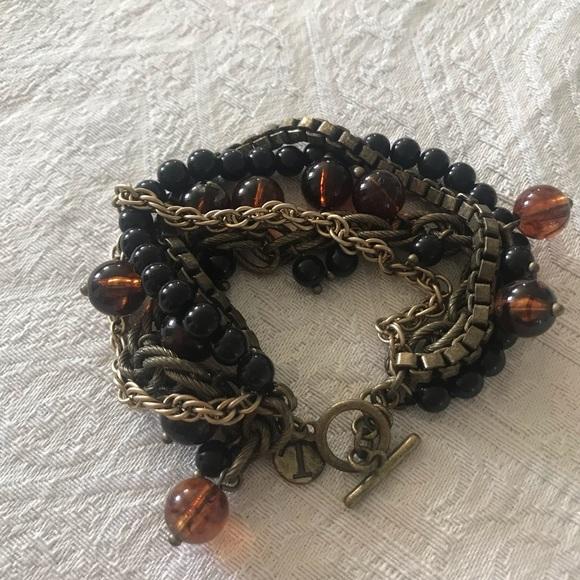 Talbots mixed media bracelet